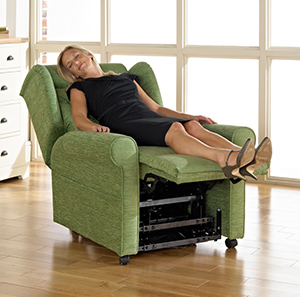 How does a riser recliner work
