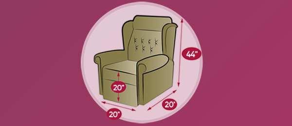 Consider the measurements when choosing a new riser recliner