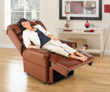 The Capri Leather Riser Recliner