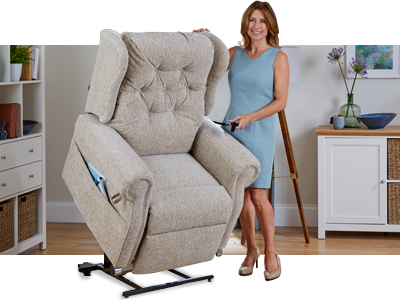 How does a riser recliner work?