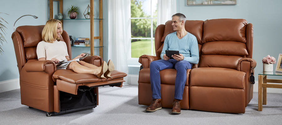 An electric recliner sofa supports you in all of the right places